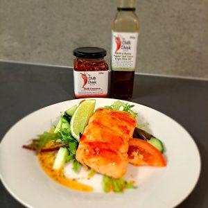 chilli conserve grilled salmon